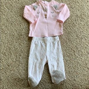 2 Piece Outfit Size 3-6 Months
